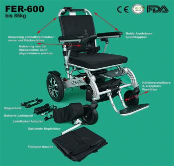 Fauteuil roulant électrique FER-600