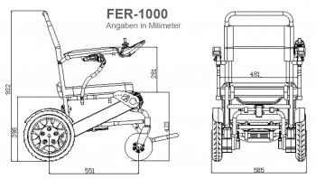 Sedia a rotelle elettrica FER-1000