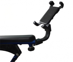 Mobilphone holder for wheelchairs and rollators